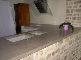 plan de travail cuisine beton cuisine plan de travail côté béton