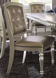 orsina silver extendable dining room set from homelegance