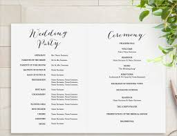 wedding program template wedding bulletin wedding program rustic wedding program order of