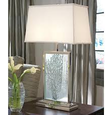 Destinations By Regina Andrew Floor Lamp by Tybee Coastal Beach Sea Fan Etched Glass Table Lamp Kathy Kuo Home