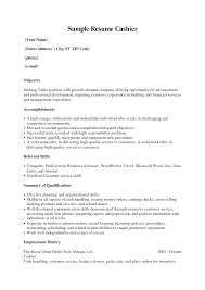 Qualification Sample For Resume by Excellent Resume Sample For Cashier Job Position With