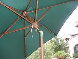 Patio Umbrellas That Tilt 7ft Wood Market Umbrella Tilt Mechanism Green
