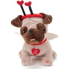 hallmark valentine love pug stuffed animal with sound walmart com