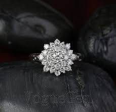 Flower Wedding Ring by Best 25 Flower Engagement Rings Ideas On Pinterest Flower