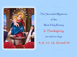 the sorrowful mysteries in thanksgiving annual 54 day rosary