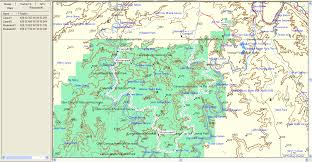 Utah Map National Parks by Expeditions West White Rim Trail Canyonlands National Park Utah