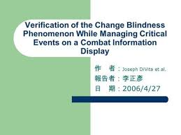 Change Blindness Task Study Of Change Blindness Eeg Synchronization Using Wavelet