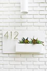 I Like This Style Of House Numbers And The Planter Idea Is Cute
