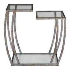Silver Accent Table Transitional Side Tables