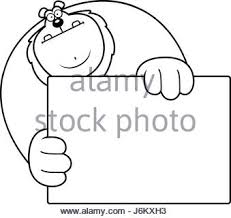 lion cartoon blank sign stock vector art u0026 illustration
