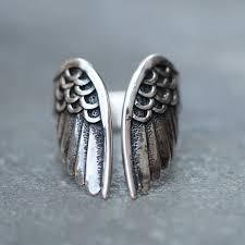 angel wings ring boho rings angel jewelry solid 925