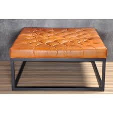 square leather coffee table ottomans under coffee table wayfair