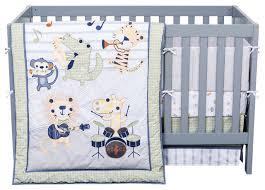 safari rock band 6 piece crib bedding set contemporary baby