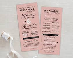 wedding programs printable wedding program ceremony program wedding program template