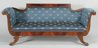 lot 315 classical style sofa with dragonfly upholstery