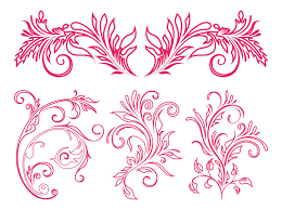 floral ornaments graphics vector graphics freevector