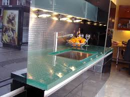Glass Kitchen Countertops with Modern Glass Countertops For Kitchens Eva Furniture