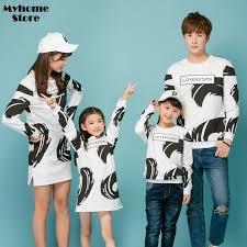 fashion fall 2017 matching family shirts long sleeve tops father