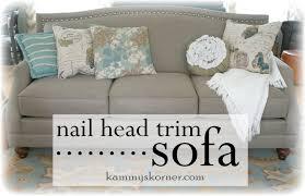 kammy u0027s korner my new nail head trim sofa