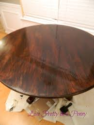 How To Paint A Dining Room Table by Live Pretty On A Penny Refinishing An Oak Table A Dining Room