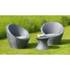 Egg Bistro Chairs Muro 3 Rattan Egg Bistro Garden Furniture Set