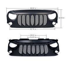 jeep light bar grill jeep beast grille with mesh 2007 2017 wrangler jk xprite