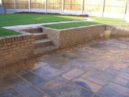 Retaining Garden Walls Ideas A Retaining Wall In Yellow Stock Bricks Great Diy And