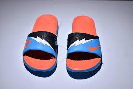 kd slides bright luster nike solarsoft kd slide blue white orange