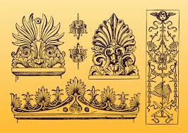 antique ornament vectors vector