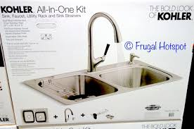 costco kitchen sink faucet costco sale kohler sink and faucet all in one kit 249 99 frugal