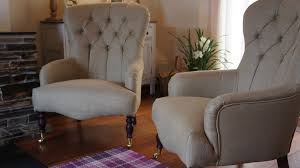 Laura Ashley Armchair Pair Of Bampton Armchairs In Laura Ashley Dalton Gold Buttonbacks