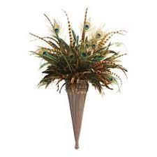 Wall Sconce Floral Arrangements Reserved Listing For Juli H Pair Of Large Wall Sconces Peacock