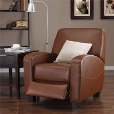 Brown Leather Recliner Chair Dorel Living Mainstays Faux Leather Recliner Camel