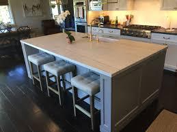 Tile Top Kitchen Island by Wood Prestige Plain Door Hazelnut Kitchen Island With Marble Top
