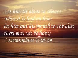 lamentations 3 28 29 humor strange bible verses