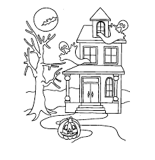 free printable haunted house coloring pages kids