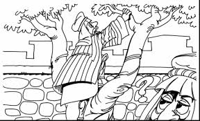 astounding jesus and zacchaeus coloring pages printable with
