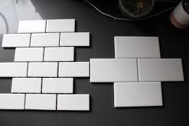 Interior  White Subway Tile Backsplash With Black Cabinets With - Small subway tile backsplash