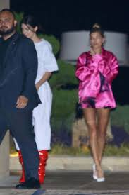 lexus of kendall body shop kendall jenner and hailey baldwin out for dinner at nobu in malibu