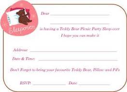 teddy bear picnic free party invitation templates lady bug picnic