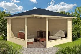 marit wooden gazebo timber garden shelter gazebo direct