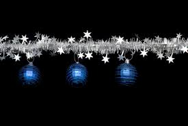 Black And Blue Christmas Decorations by Photo Of Tinsel And Bauble Border Free Christmas Images
