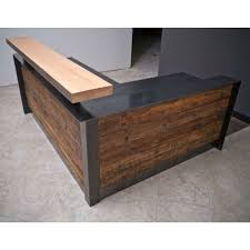 Reception Desk Wood L Shaped Corner Reception Desk Reception Area Furniture Wood Front