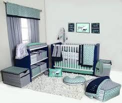 Bedding Set Crib Bacati Noah Tribal Mint Navy 10 Pc Crib Set Including Bumper Pad