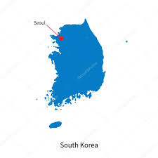 Map Of South Korea Detailed Vector Map Of South Korea And Capital City Seoul U2014 Stock