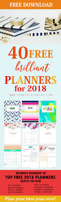 printable calendar 2017 for planner free printable planner 2018 40 brilliant planners and calendars