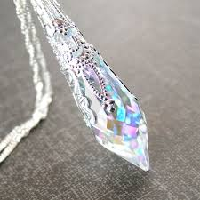 jewelry crystal necklace silver images Swarovski aurora clear crystal necklace april birthstone jpg