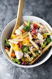 recipes for pasta salad healthy greek chicken pasta salad recipe sweet peas and saffron