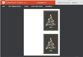 christmas cards maker template for powerpoint online