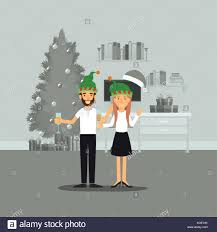 champagne celebration cartoon couple at home stock vector images alamy